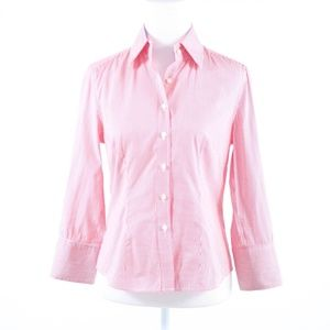 J. McLaughlin pink cotton button down blouse 4